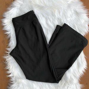 [Lucy] Black Full Length wise leg leggings-XSShort